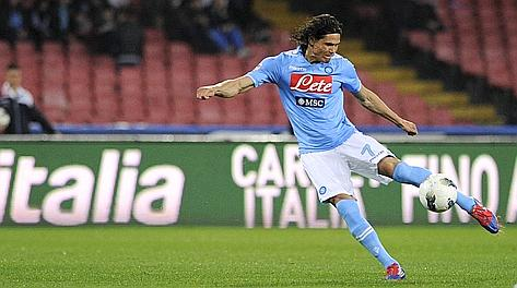 Edinson Cavani piace a United e City. Afp