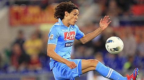 Edinson Cavani a Roma ha segnato il gol numero 22 in campionato. Reuters