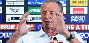 Maurizio Zamparini, ex presidente di Delio Rossi. Ansa
