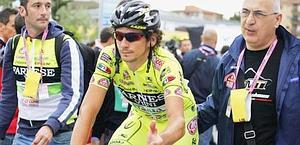Filippo Pozzato, 30 anni, caduto a Frosinone e ritirato. Ansa