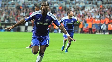 Didier Drogba, decisivo nella finale anche dal dischetto. Afp