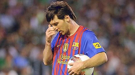 Leo Messi, pichichi della Liga con 50 gol realizzati. Afp