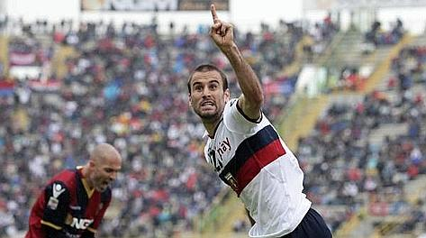 Rodrigo Palacio, 29 anni, quest'anno 18 gol in Serie A. Ansa