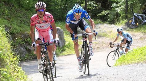 Joaquin Rodriguez e Ryder Hesjedal.: solo loro a giocarsi il Giro. Reuters