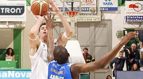 Ksystof  Lavrinovic, 32 anni, top scorer del match con 19 punti. Ciam/Cast