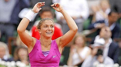 Sara Errani, 25 anni, prima finale in uno torneo dello Slam. Reuters