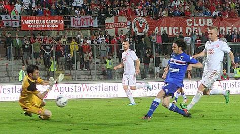 Pozzi realizza il gol che vale vittoria e promozione in A