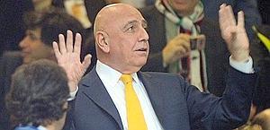 L'a.d. del Milan, Adriano Galliani. Ansa