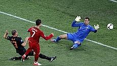 Ronaldo segna il gol dell'1-1. Ansa