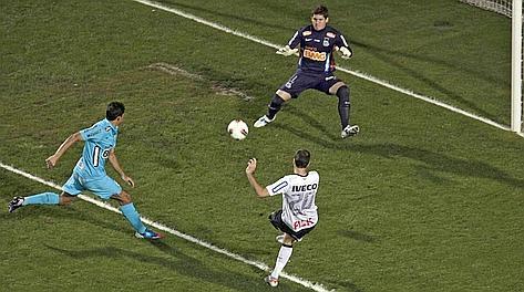 Il gol dell'1-1 di Danilo. Afp