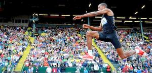 Christian Taylor vince il triplo a Eugene con 17.63 m. Reuters
