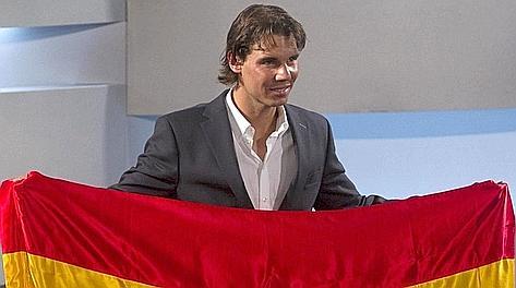 Rafa Nadal, portabandiera della Spagna. Reuters