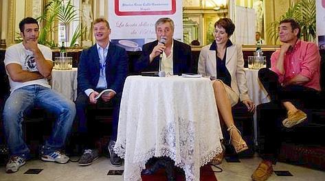 Gli olimpionici Pino Maddaloni e Patrizio Oliva alla presentazione di