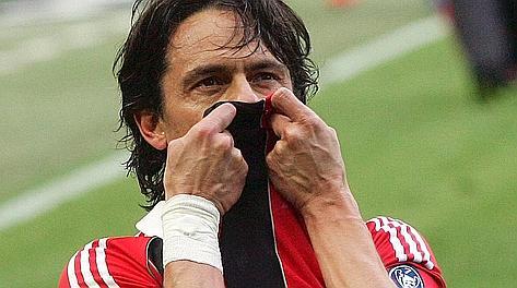 Filippo Inzaghi, 38 anni. Ansa