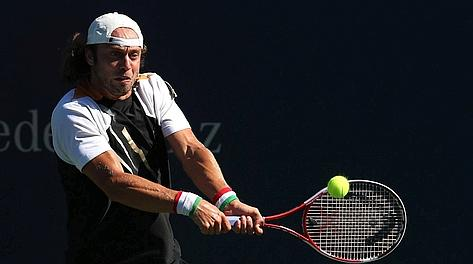Paolo Lorenzi in azione. Afp
