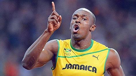 Usain Bolt, 25 anni, detentore dei primi tre tempi di sempre sui 100. Afp