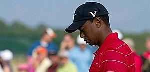 Tiger Woods, 36 anni, ancora un weekend difficile in un major.  Reuters