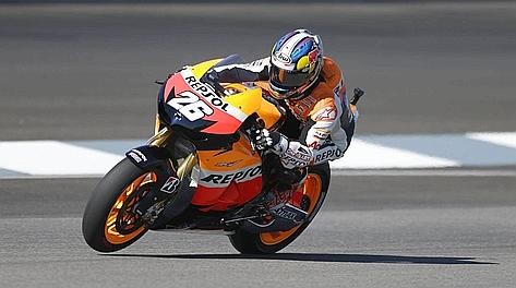 Dani Pedrosa, 26 anni, alla terza pole stagionale. Ap