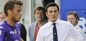 Vincenzo Montella, alla prima in campionato con la Fiorentina. Ap