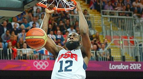 James Harden, 23 anni, oro con Team Usa a Londra. Afp