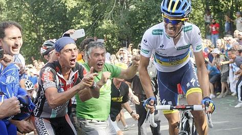 Alberto Contador all'attacco
