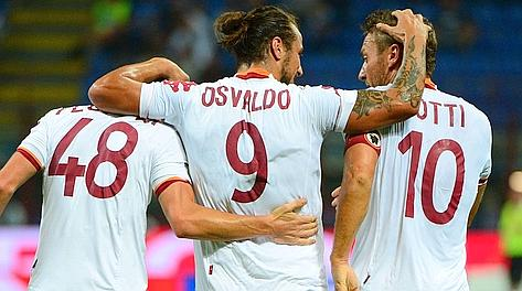 Florenzi, Osvaldo e Totti, tre grandi protagonisti a S. Siro. Afp