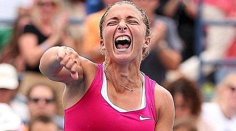 Sara Errani, 25 anni, finalista al Roland Garros. Afp