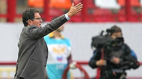 Fabio Capello, 66 anni, alla seconda gara da c.t. della Russia. Ansa