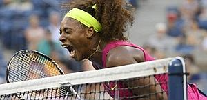 La rabbia agonistica di Serena Williams. Afp