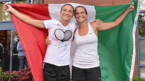 Sara Errani e Roberta Vinci, coppia numero 1 al mondo di doppio. Ansa