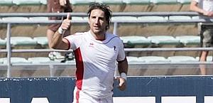L'esultanza di Antimo Iunco, un gol e un assist con la Ternana.ò LaPresse