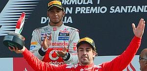 Fernando Alonso, 31 anni, leader con 37 punti su Hamilton. Afp