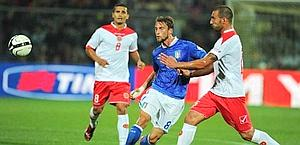 Claudio Marchisio in azione contro Malta. LaPresse