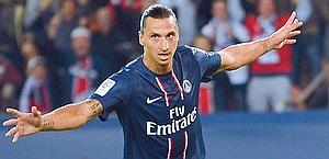 Zlatan Ibrahimovic, 30, his 1st season at PSG. Afp
