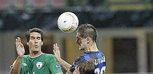 Il gol dell'1 a 1 di Livaja. Ap