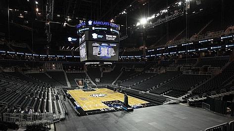 Spalti e parquet della Barclays Center Arena. Reuters