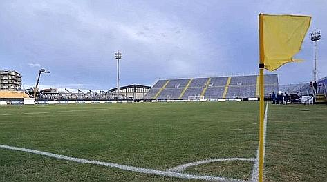 Una veduta interna dello stadio Is Arenas di Quartu Sant'Elena. Ansa