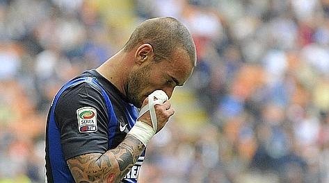 La delusione di Wesley Sneijder, l'ultimo ad arrendersi. Reuters