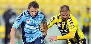 Del Piero impegnato nella gara d'esordio contro il Wellington. Ap