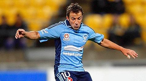 Alessandro Del Piero con la maglia del Sydney. Afp