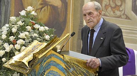 Alfredo Martini, 91 anni, sull'altare ricorda Fiorenzo Magni. Ipp