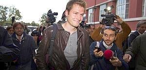 Alex Schwazer, 27 anni, all'ingresso della Procura del Coni. Ansa