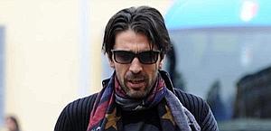 Gianluigi Buffon all'arrivo a Parma. Ansa