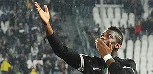Paul Pogba, centrocampista francese della Juventus. Ansa