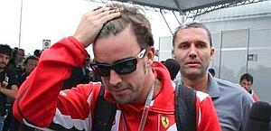 Fernando Alonso, 31 anni, due titoli sfumati con la Ferrari. Epa