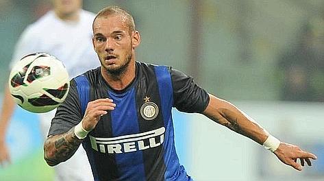 Wesley Sneijder, 28 anni. Ansa