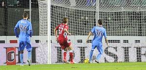 L'1-0 realizzato da Ze Eduardo. LaPresse