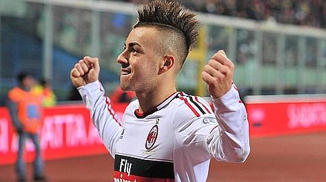 El Shaarawy sotto la curva del Milan. Ap