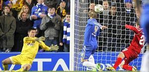 Il 4-1 di Torres nel minuto del vantaggio della Juve. Afp