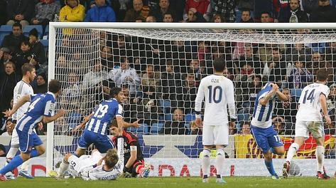 Il gol del pareggio dell'Espanyol con Albin. Reuters